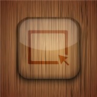 Vector wooden app icon. Eps10