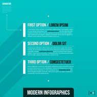 Abstract infographics banner design