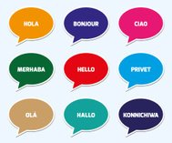 Hello in Different Language Concept
