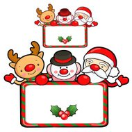 Santa Claus and deer mascot the event activity