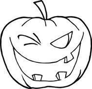 Black and White Winking Pumpkin