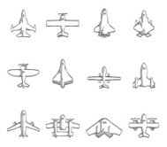 Sketch Icons - Airplanes