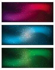 Abstract Star Banners/Backgrounds