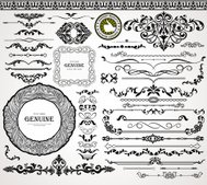 Vintage design elements, ornaments and dividers, page decoration