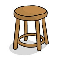 wooden chair cartoon
