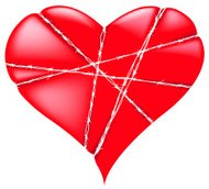 barbed wire heart shape