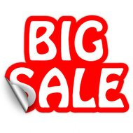 big sale red sticker