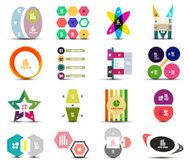 Flat infographic designs set
