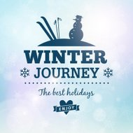 Winter journey holidays poster