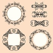 Vector calligraphic elements and frames