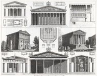 Engraving: Greek and Roman Temples