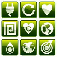 Square recycling icons