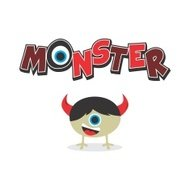cute little monster character