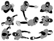 Top view of American football player