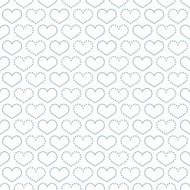 Simple seamless pattern with heart symbol.