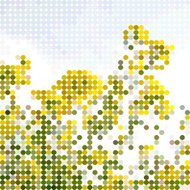 abstract yellow polka dots pattern background