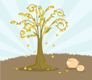 Money tree that grows gold coins