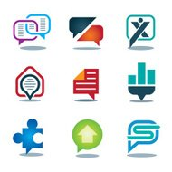 New chat conversation message icon set of youth social network
