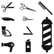 barber shop royalty free vector icon set royalty free vector