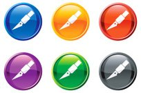 Exacto blade knife royalty free vector icon set round buttons
