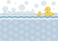 baby shower card with duck toys