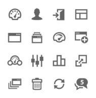 Dashboard icons set.