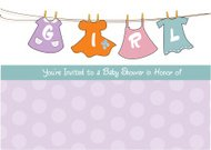 baby girl shower announcement