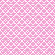 Simple seamless geometric pattern with hearts.