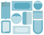 Vector set of design elements - vintage frames and tags