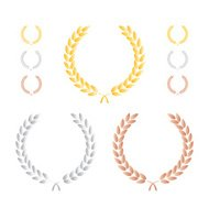 Laurel Leaf Wreath Precious Metal Set