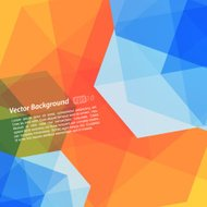 Orange And Blue Abstract Geometrical Background