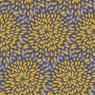 Seamless splattered fireworks pattern in orange and purple