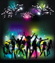 Young people on the party. Celebration background.