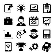Business icons, management and human resources.