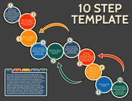 Vector Template for 10 Step Infographic