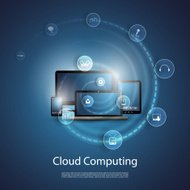Cloud Computing Concept - Stock Illustration