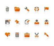 Office + Interface icons / tangerine series