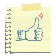 thumb up note