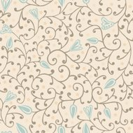 Colorful floral seamless pattern in cartoon style.