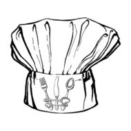 chef's hat with crown