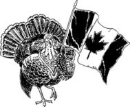 Turkey Canadian Flag