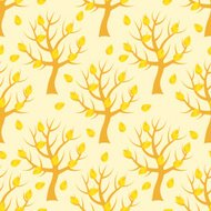 Seamless pattern with autumn trees.