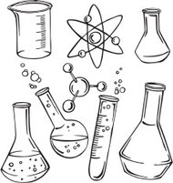 vector illustration science subjects