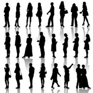 silhouettes mans and womans