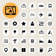 Map and Location Icons set