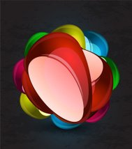 Abstract vector glass shapes background