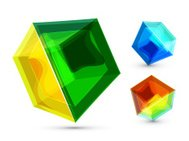 Vector glass cube background