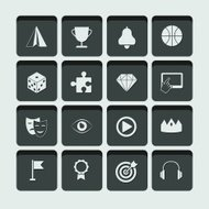 vector set of entertainment and leisure activity icons