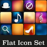 Simple flat icons with trendy colors