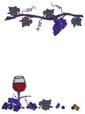 Wine Elements Background with Glass and Grapevine Has Copy Space